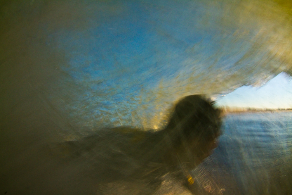 PJ Raia in a hurricane honey hole, New York 2012. This was the opening spread in Saturday's #002, the only magazine who wanted to run this frame. This is the way I see surfing, slightly blurry and smooth colors.