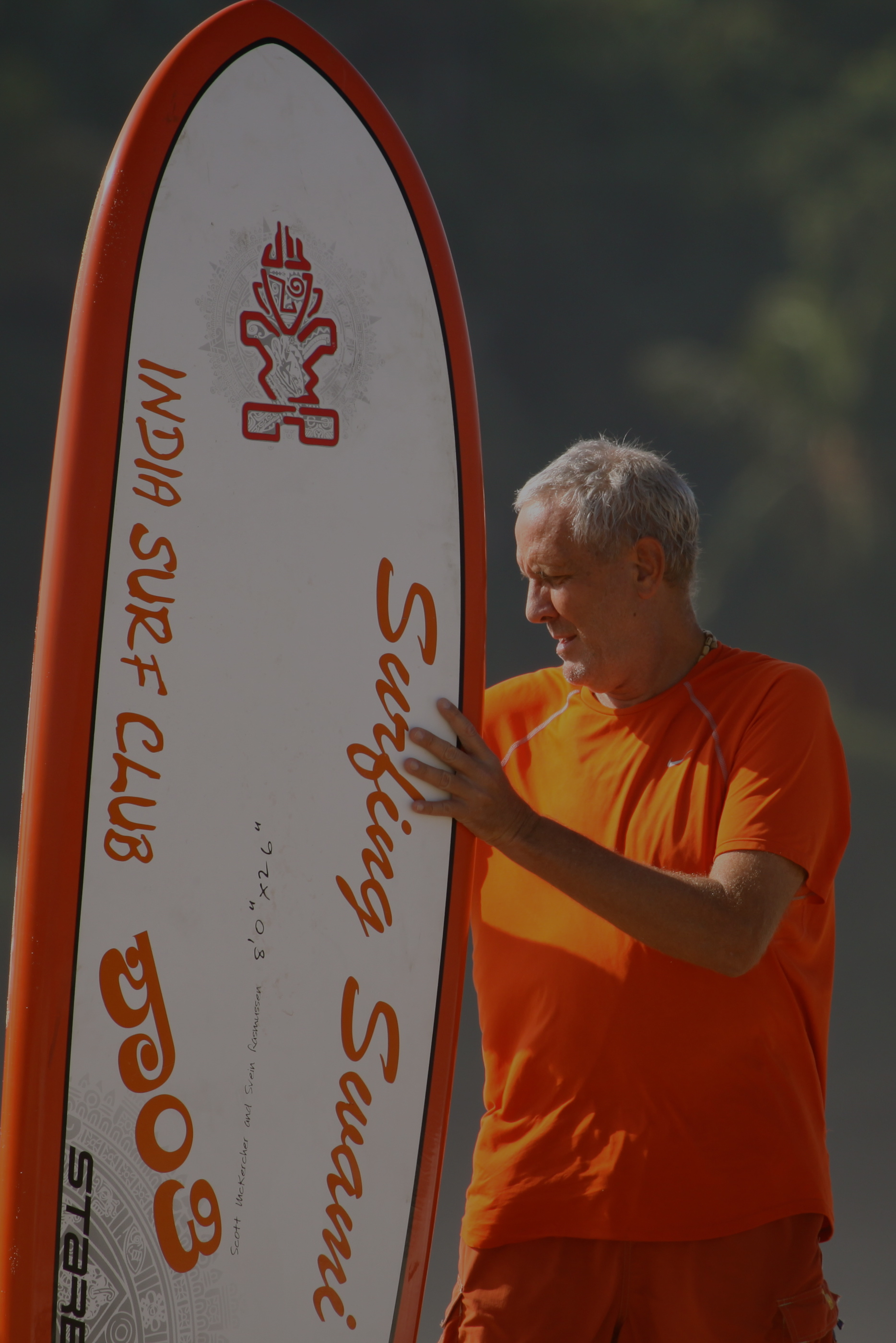The Surfing Swami. Photo:  Rammohan Paranjape
