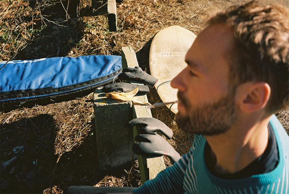 Simon Rosendal post surf session. Photo: Bo Gundtoft