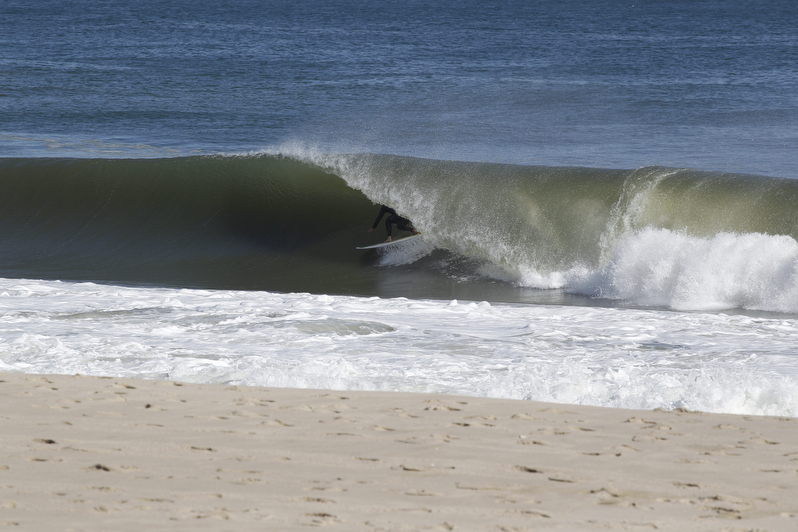 When Ben isn't working he likes to pull into empty tubes in New Jersey. Photo: Seth Stafford