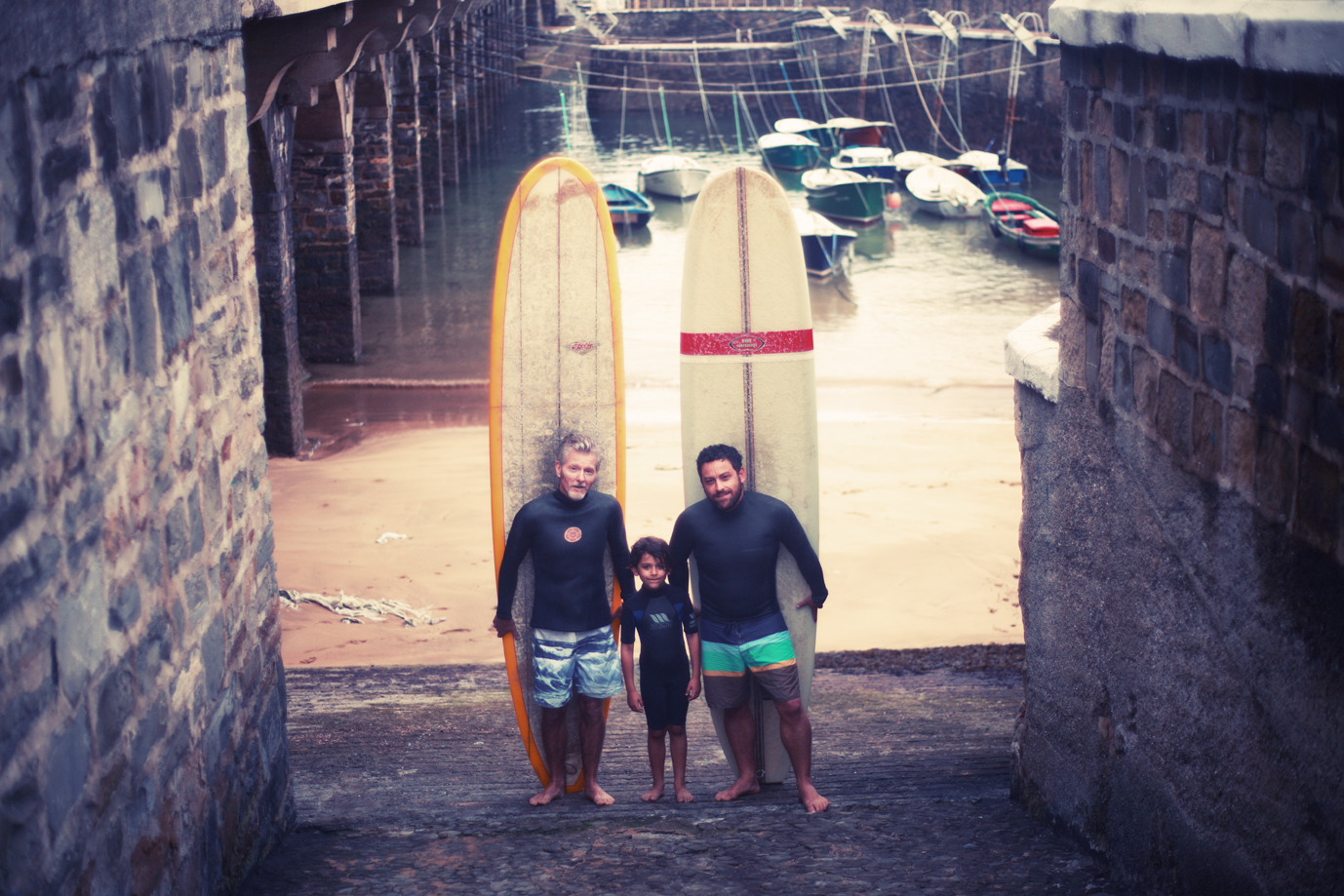 Shane, Noah and Nathan Oldfield in the Basque Country. Photo: Iker Trevino