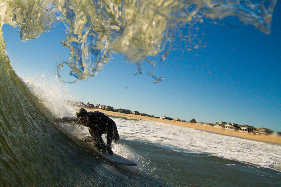 Brett Lehr attempting a backdoor entry into a throwing tube.