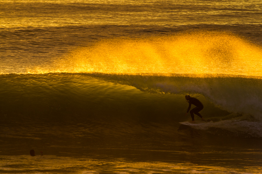 Golden hour tubes at Calafia Beach.