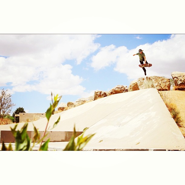 """Larry"" busting a boneless into a southwest ditch. Photo: Rob Grieb"