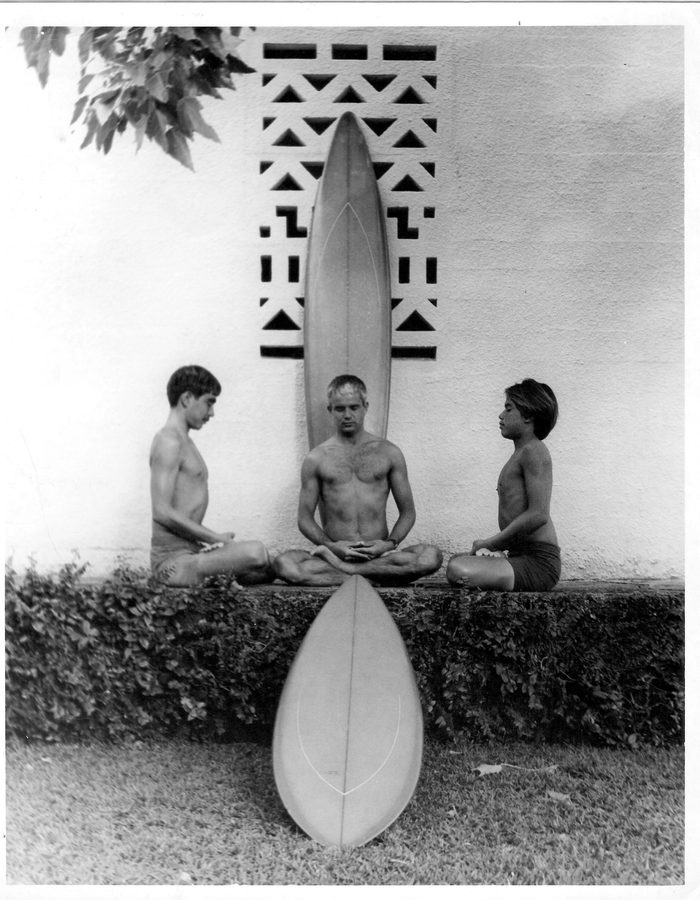 Chasing the Lotus. Gerry Lopez on left. Circa 1969. Photo: David Darling