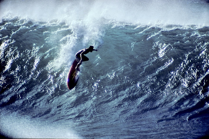 Gerry Lopez surfing Pipeline. Circa 1972-73. Photo: Jeff Divine