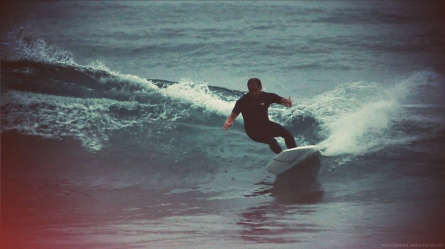 "Manny putting a 5'8"" Dark Crystal to the test. Photo: Hayley Gordon"