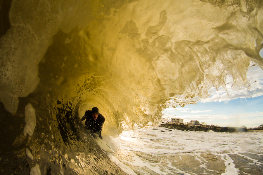 Tubes, tubes, and more tubes. This is what winter surfing in New Jersey is all about.