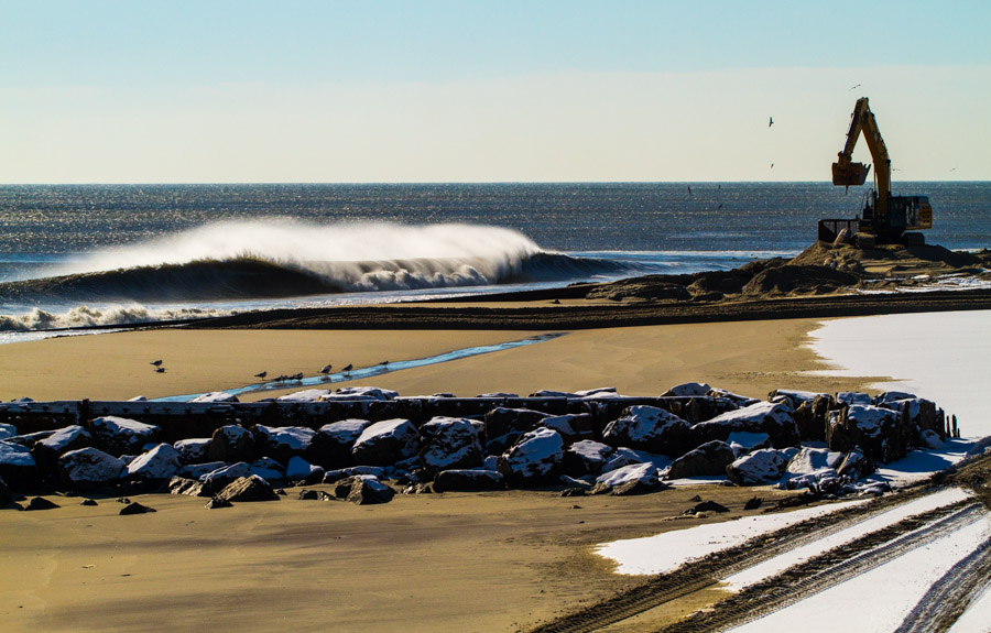 """Just about everywhere you went this winter beach """"replenishment"""" was in full effect. Luckily most sandbars held up due to all the active swell."""