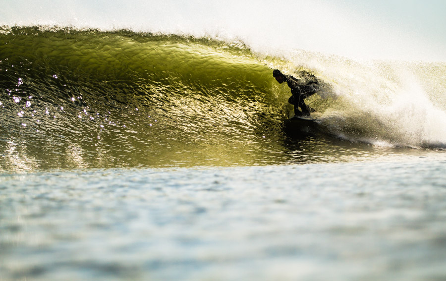 Sean Bernhardt enjoying a glimpse of the coming of spring. Photo: Christor Lukasiewicz