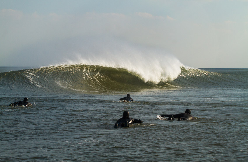 Although spring has sprung it still feels a lot like winter but no one is complaining with waves like this.