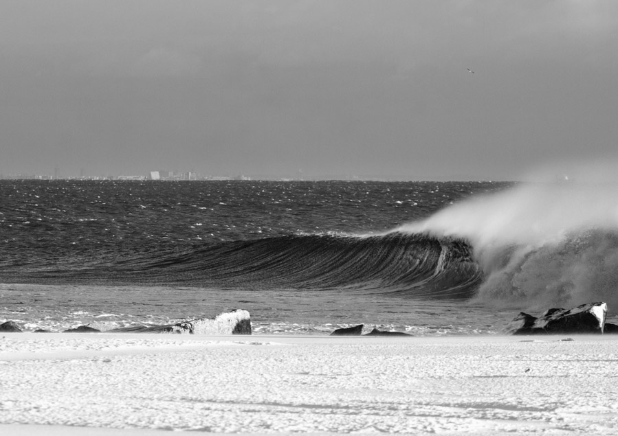 One of the beauties of a New Jersey winter is with a little searching you can find a perfect wave without another soul in sight.