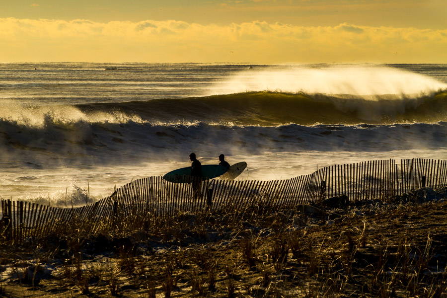 Brutal offshore winds, empty line ups, and overhead waves; welcome to winter in New Jersey