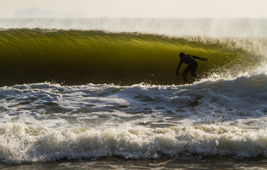 Nothing says springtime to a surfer like backlight barrels. Surfer: Mike Hughes