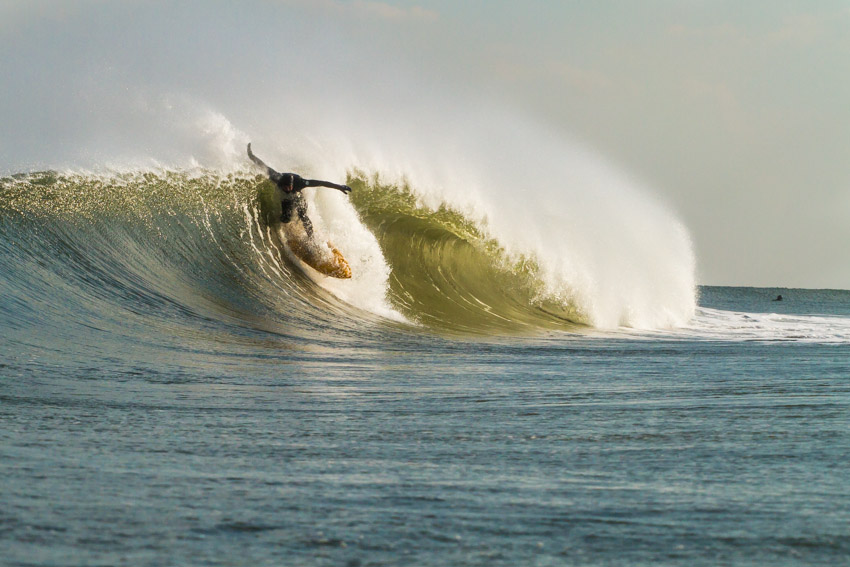 Mike Hughes setting up for more tube time.