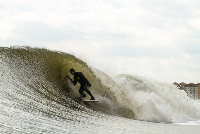 Stylishly slotted, Mikey De Temple made the trip south to enjoy some Jersey jewels.