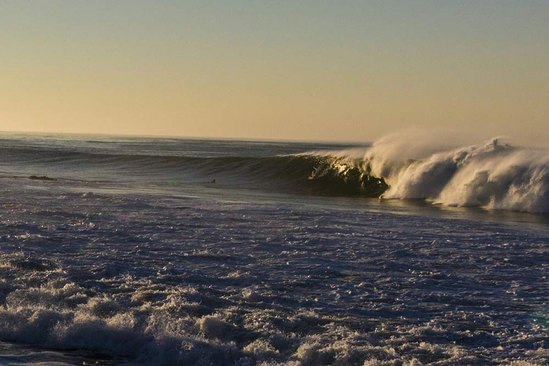 Leo Carrillo, Malibu going off on the swell of the decade.  Photo: Mike Astede